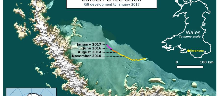 Lähikuukausina saattaa Etelämantereesta murtua jättimäinen jäävuori