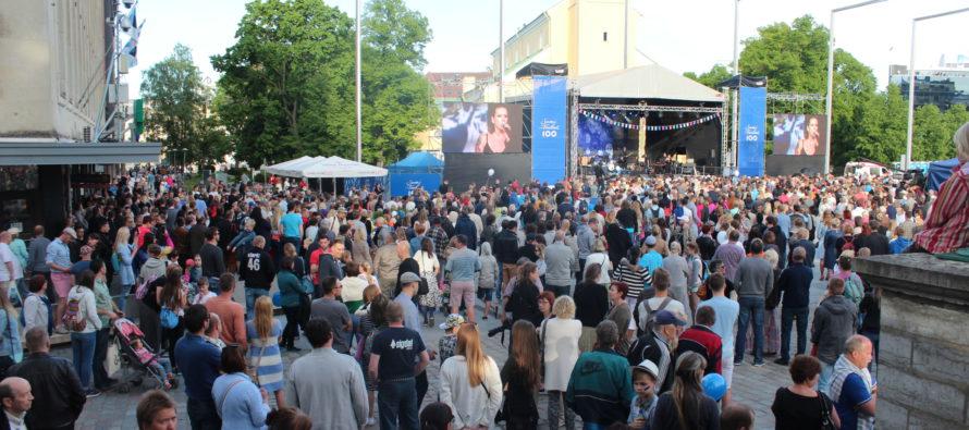 NordenBladet ja Viron yleisradio ERR olivat Suomi 100 -konsertin suurimmat uutisoijat ja sosiaalisessa mediassa levittäjät