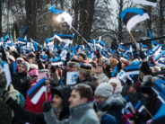 GALLERIA! Viron tasavalta 100 vuotta – lipunnostotilaisuus Tallinnassa