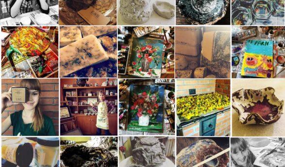 """Viron kansallismuseon näyttelykilpailun voitti """"Meidän kodin noitakeittiö"""" – Näyttelyidean luojat ovat äiti kaksine tyttärineen: Helena-Reet Ennet, Estella Elisheva ja Ivanka Shoshana"""